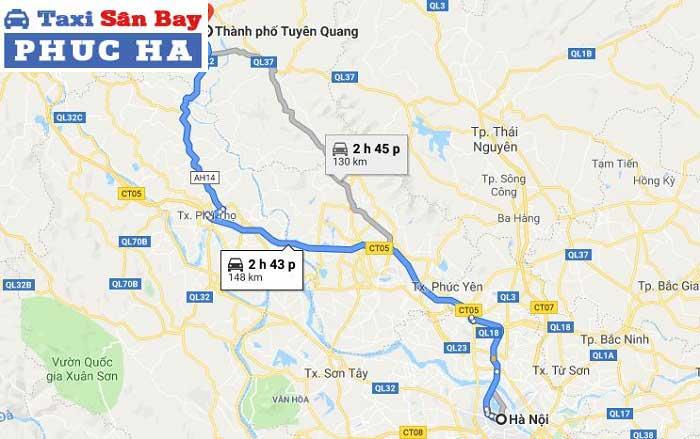 Taxi Từ Hà Nội đi Tuyên Quang