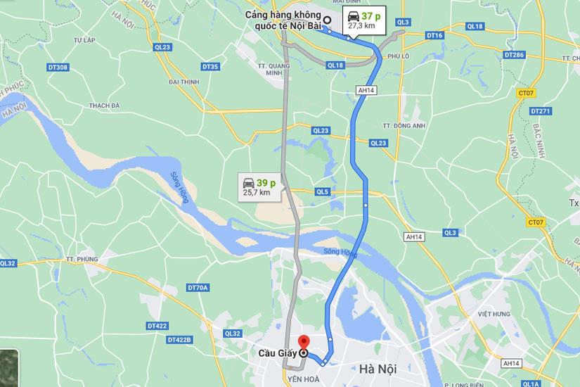 Taxi từ Nội Bài đi cầu giấy Giá Rẻ, Trọn Gói chỉ từ 170.000 VND