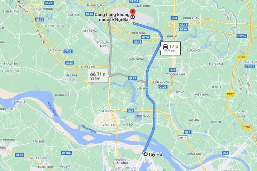 Taxi đón sân bay Nội Bài về Quận Tây Hồ giá rẻ trọn gói
